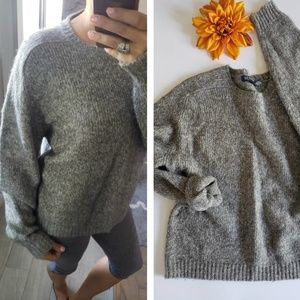 OLD NAVY GRAY WOOL SWEATER